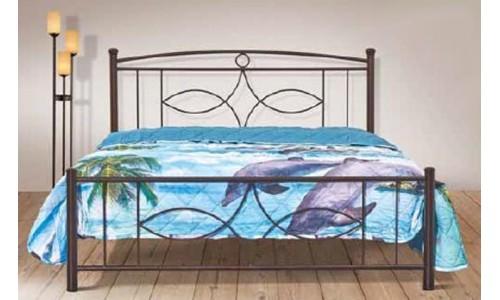 Κρεβάτι μεταλλικό Σέριφος με διπλό ορθοπεδικό στρώμα