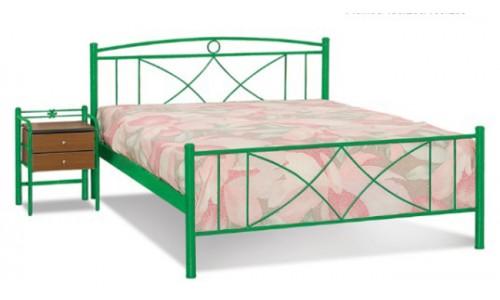 Κρεβάτι μεταλλικό Σίκινος με στρώμα