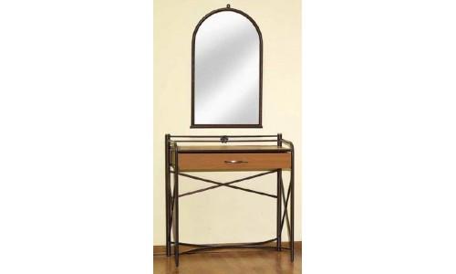 Τουαλέτα μεταλλική Λευκάδα με καθρέπτη