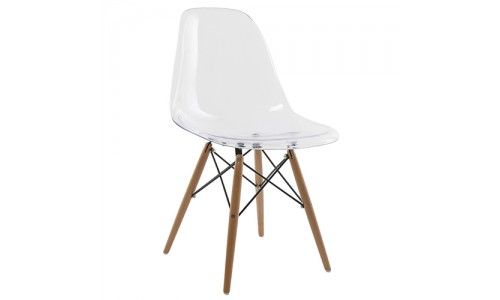 Καρέκλα Anita-Wood-διάφανη