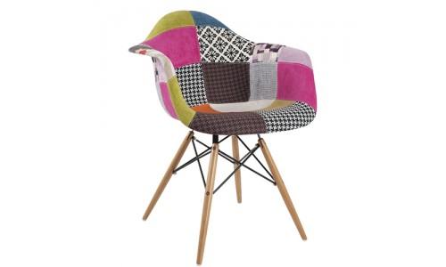 Καρέκλα πολυθρόνα Quadra-Wood πολύχρομη
