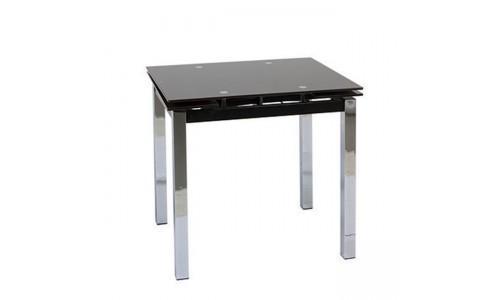 Τραπέζι Glamour-80 χρώμιο με τζάμι