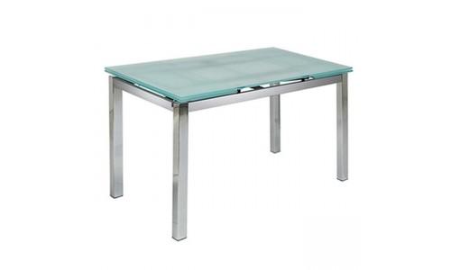 Τραπέζι Glamour-110 χρώμιο με τζάμι