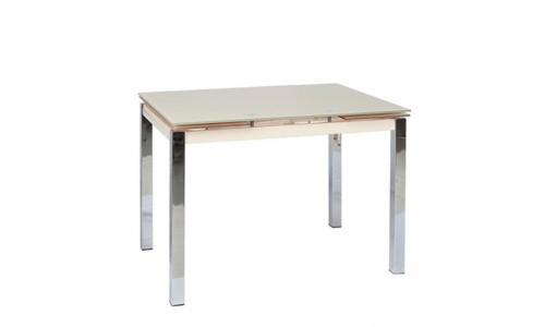 Τραπέζι Glamour-100 χρώμιο με τζάμι