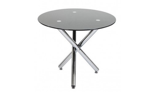 Τραπέζι Kozi-110 χρώμιο με τζάμι