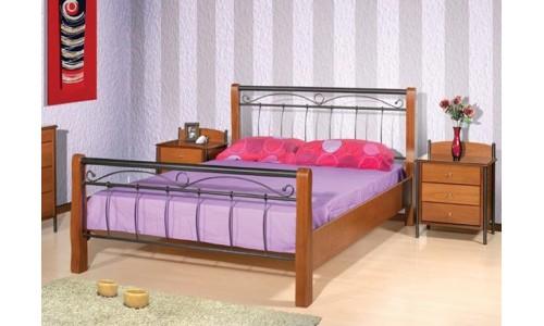 Κρεβάτι μέταλλο-ξύλο Νο20