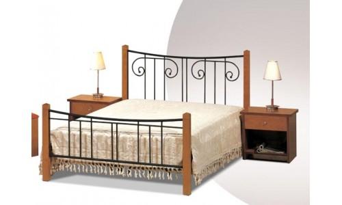 Κρεβάτι μέταλλο-ξύλο Νο21