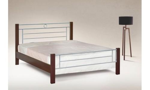 Κρεβάτι μέταλλο-ξύλο Νο47