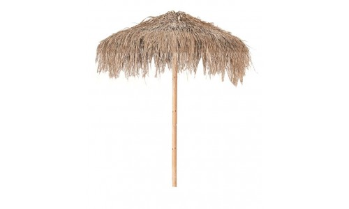 Ομπρέλα ξύλινη Φ2m με φυσικό χόρτο