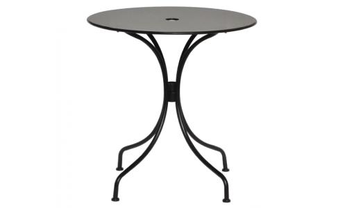 Τραπέζι μεταλλικό coffee μαύρο