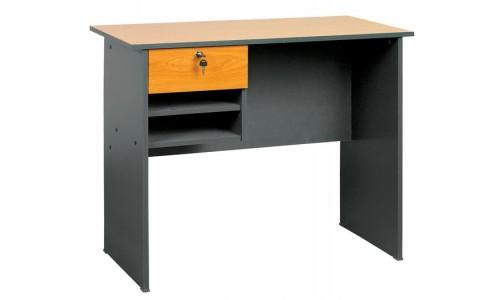 Γραφείο ξύλινο Dark Grey με συρτάρι