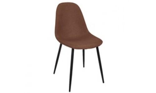 Καρέκλα CELINA  Μεταλλική Μαύρη, Ύφ.Καφέ