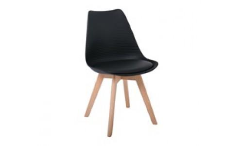 Καρέκλα MARTIN STRIPE Μαύρη