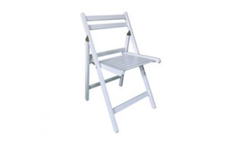 Καρέκλα EXTRA Πτυσσόμενηνη Άσπρη
