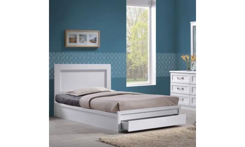 Κρεβάτι-Συρτάρι LIFE Λευκό 110x200