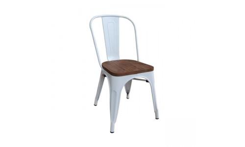 Καρέκλα RELIX Wood Dark Oak Άσπρη High