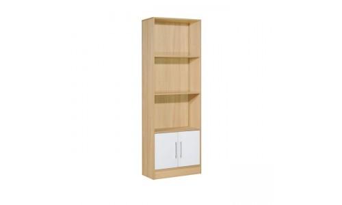 Βιβλιοθήκη DECON απόχρωση σημύδας με ντουλάπι