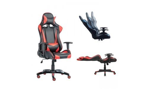 Gaming Πολυθρόνα Διευθ/ντή Pu Μαύρο/Κόκκινο