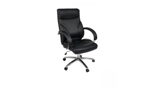 Καρέκλα BF5300 Διευθυντή Χρώμιο/Pu Μαύρο