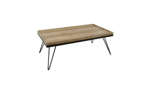 Τραπέζάκι Σαλονιού LAMAR Απόχρωση Σημύδας/Βαφή Ant.Black