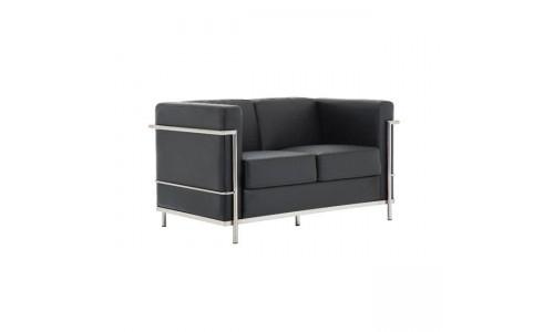 Καναπές GENOVA 2θέσιος Μαύρο