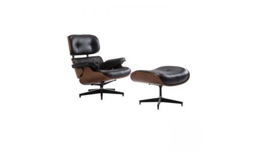Πολυθρόνα RELAX με Σκαμπώ Μαύρο