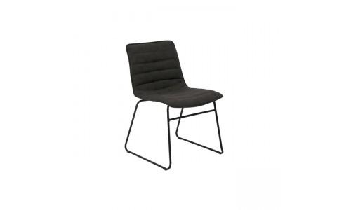 Καρέκλα CONNEL Μεταλική Μαύρη/Pu Vintage Black