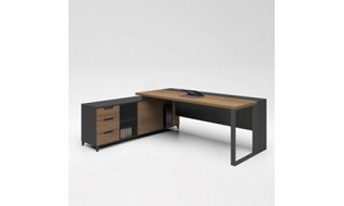 Γραφείο PROLINE 160x160cm Καρυδί/Μαύρο