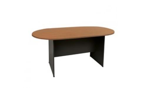 Τραπέζι Συνεδρίου-Α Oval Κερασί 180x90cm